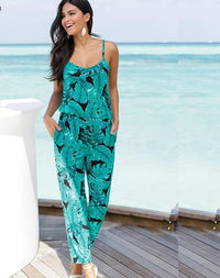2018 Casual Beach Party Summer/Fall Strap Floral Printed Jumpsuit/Rompers - Monetta