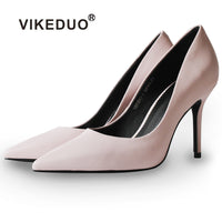 Vikeduo 2018 Summer/Fall New Fashion Ladies Pink High Heels Pumps - Monetta