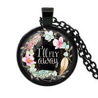 Scripture Quote Glass Dome Necklace