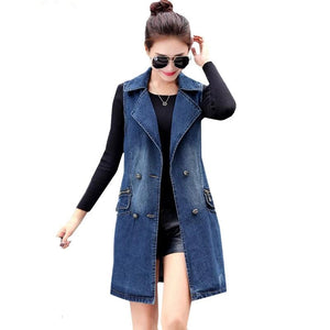 2018 Fall / Spring Denim Long Vest - Monetta