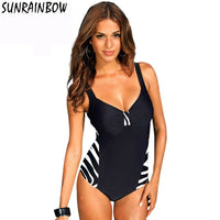 ZEBRA New Summer Print Stripe Vintage Swimwear