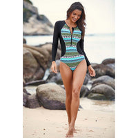 Daze Surf One-Piece Long Sleeve Zipper Snorkeling Suit