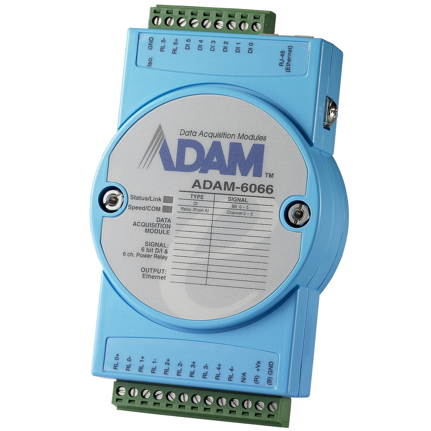 6 Isolated Digital Inputs & 6 Power Relays Module ADAM 6066