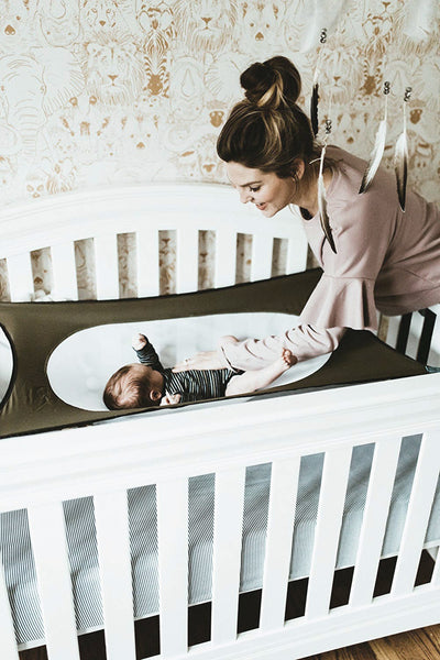 infant hammock and mom