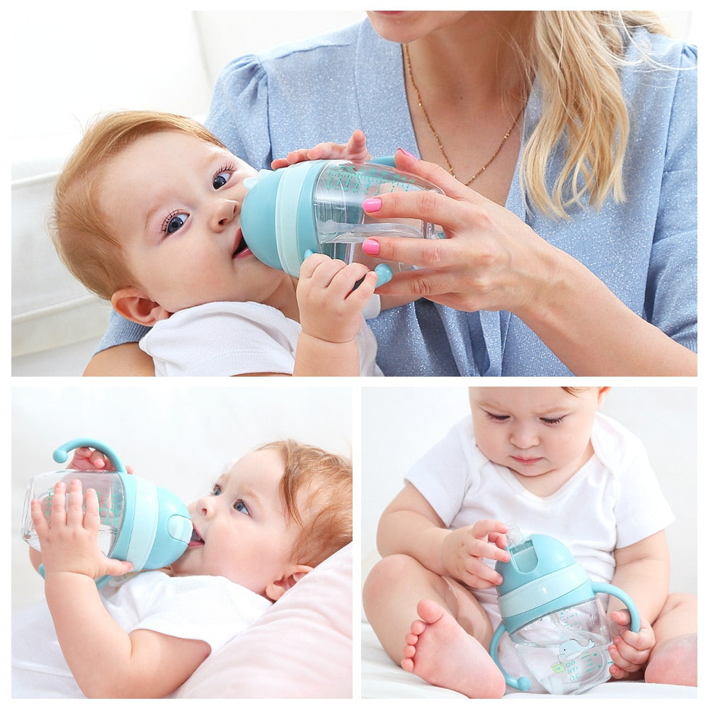 Baby Feeding Bottles Cups 2 Use Kids