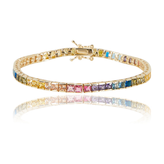 Multi-Colored Square Bracelet