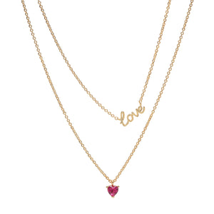 Tai Double Layer Love and Heart Necklace
