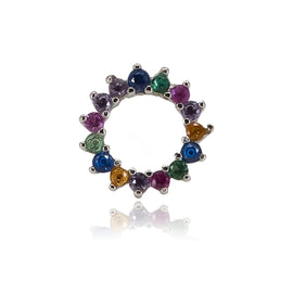 Multi-Colored Circle Stud Earring
