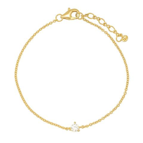 CHAIN BRACELET WITH CZ