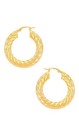 TWISTED GINA HOOPS