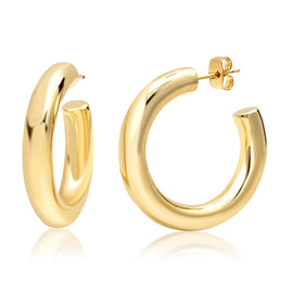 GOLD HUGGIE HOOPS EARRINGS