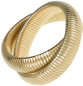 JANICE SAVIT HIGH POLISHED DOUBLE COBRA BRACELET