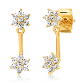 FLOWER CZ EAR JACKET