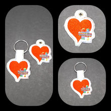 Load image into Gallery viewer, Heart Puzzle Key Fob