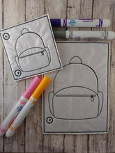 Load image into Gallery viewer, Backpack Coloring Page