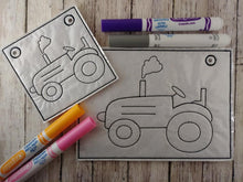 Load image into Gallery viewer, Tractor Coloring Page