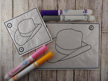 Load image into Gallery viewer, Cowboy Hat Coloring Page