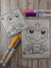 Load image into Gallery viewer, Frog Coloring Page
