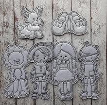 Load image into Gallery viewer, Dorothy and Friends Color Me Feltie Set with Bag