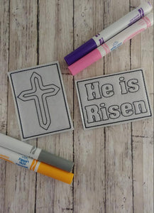 He is Risen Mini Coloring Page