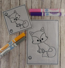 Load image into Gallery viewer, Fox Coloring Page