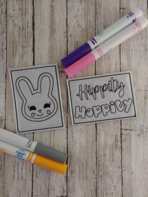 Hippity Hoppity Mini Coloring Page