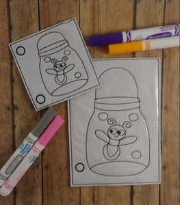 Firefly Bug Jar Coloring Page