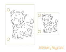 Load image into Gallery viewer, Cow Coloring Page
