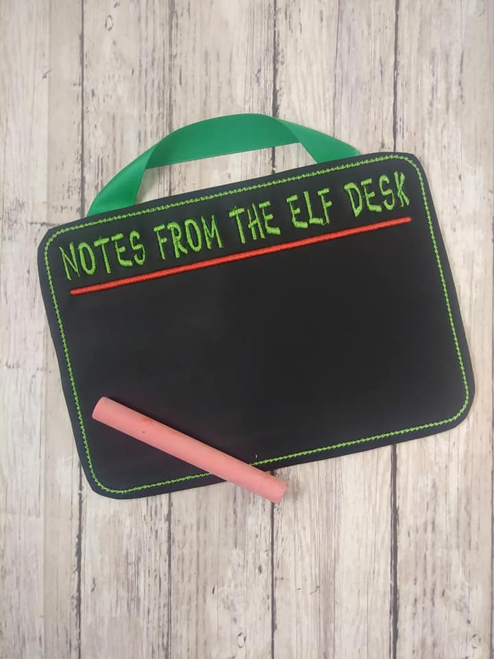 From The Elf Desk Writing Board