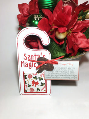 Santa's Magic Key Door Hanger
