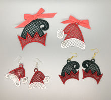 Load image into Gallery viewer, Free Standing Lace Christmas Hat Ornament Set