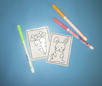 Bunny Carrot Mini Coloring Page