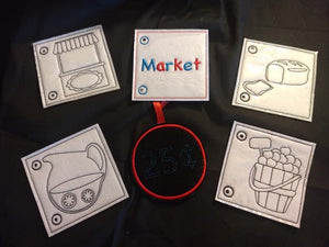 Market Coloring Book
