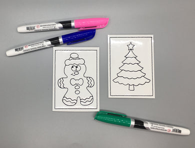 Christmas Mini Coloring Page