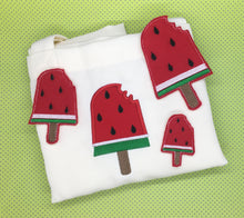 Load image into Gallery viewer, Watermelon Popsicle Feltie and Applique Set