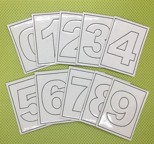 Numbers 0-9 Mini Coloring Page Set