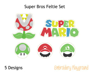 Super Bros Feltie Set