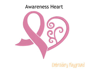 Awareness Ribbon Heart