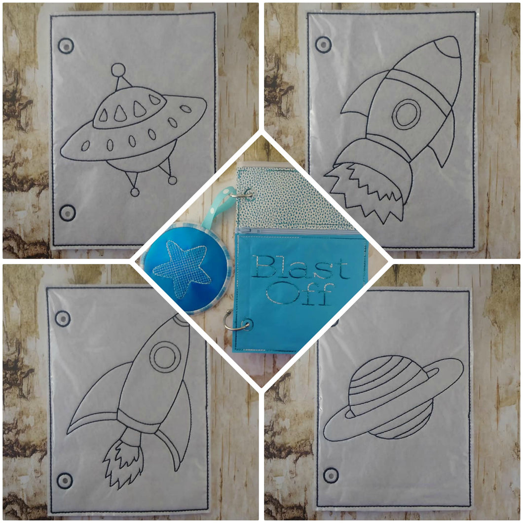 Blast Off Coloring Book