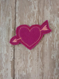 Cupid Heart Feltie - February