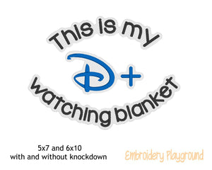 D Plus Watching Blanket Saying