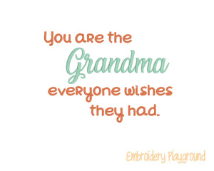 Grandma Saying