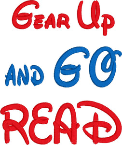 Gear Up and Go Read Saying