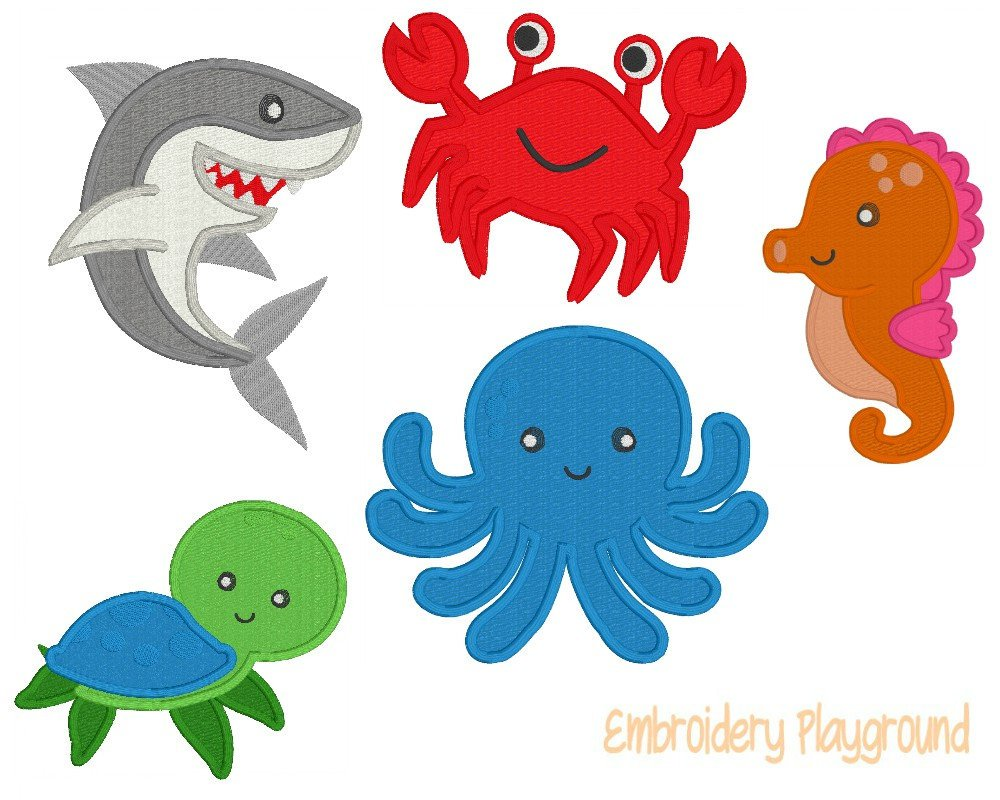 Ocean Fun Applique Set