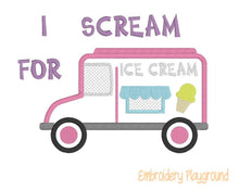 Load image into Gallery viewer, Ice Cream Truck Applique