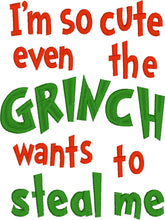 Load image into Gallery viewer, Christmas Grinchy Wording
