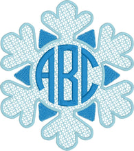 Load image into Gallery viewer, Snowflake Monogram Frame