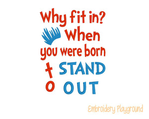 Stand Out Saying