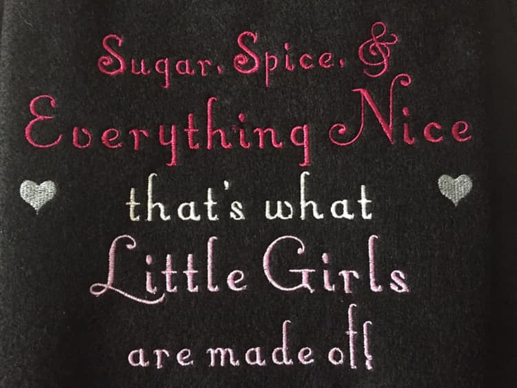 Sugar and Spice Little Girl