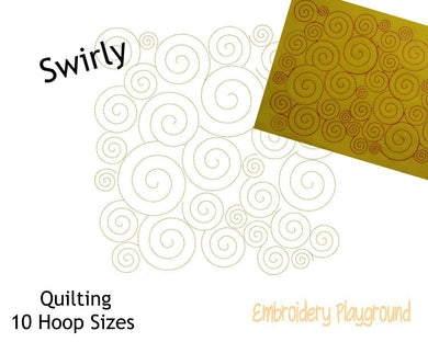 Swirly 2 Quilting